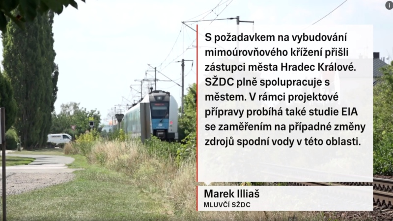 Vyjádření SŽDC v reportáži TV Seznam